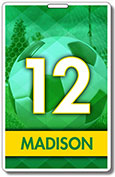 Generic Green and Yellow Soccer tag